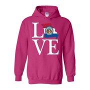 Unisex Love Missouri State Flag Hoodie Sweatshirt
