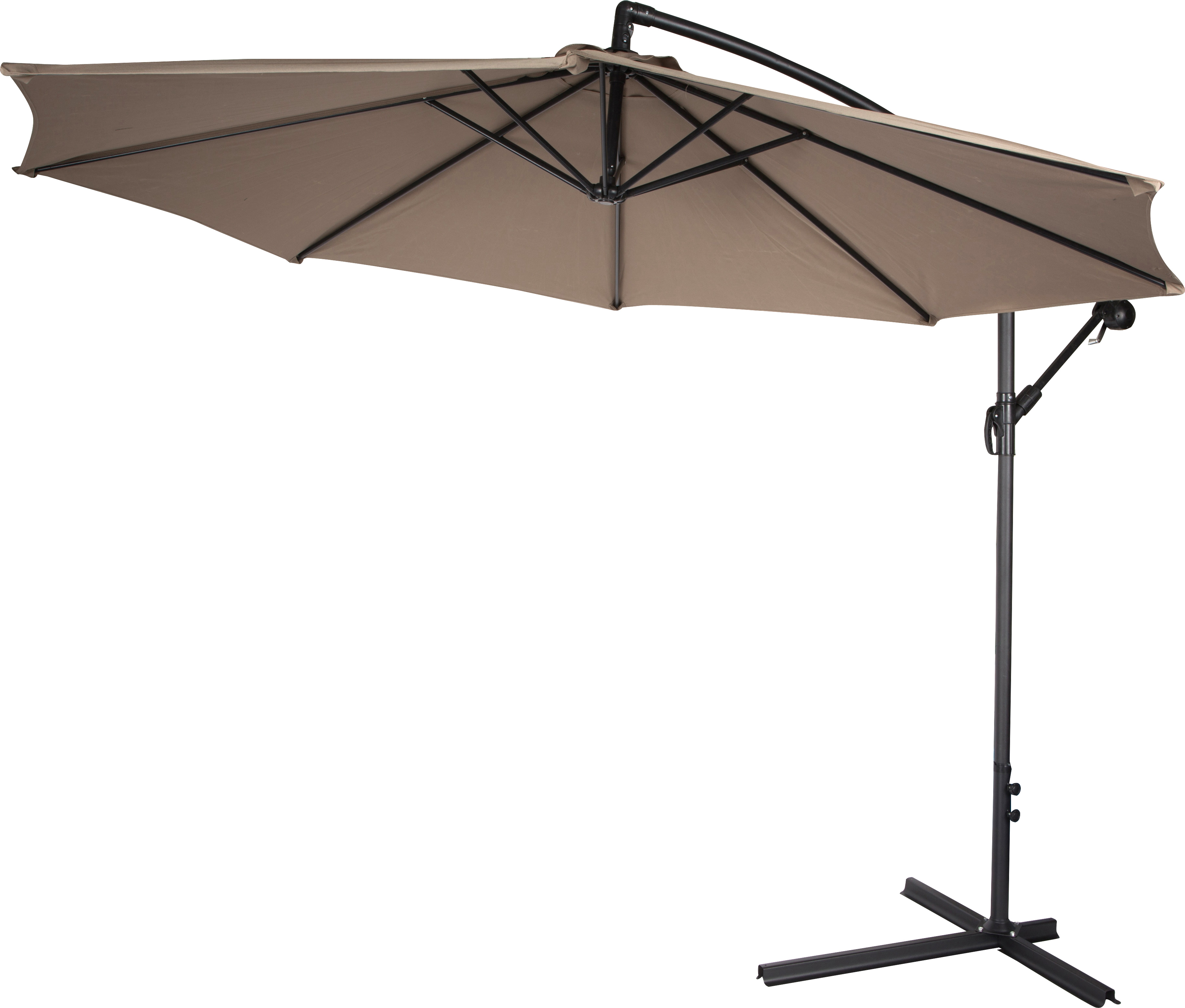 Exceptional Deluxe Polyester Offset Patio Umbrella   10u0027   By Trademark Innovations ...