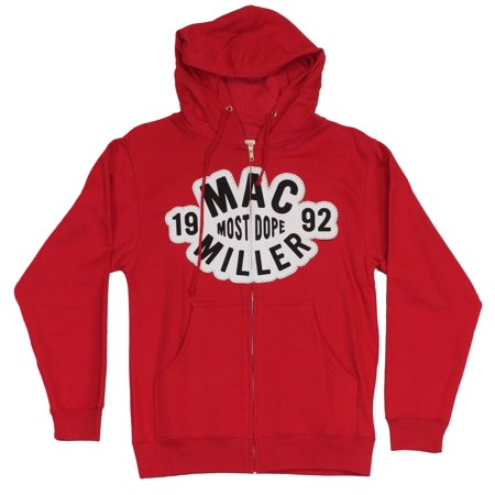 - Mac Miller Mens Zip Up Hoodie Sweatshirt -Cloudy White Most Dope Since 1994