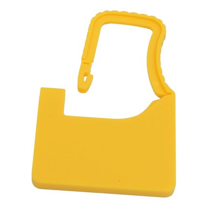 60mm x 38mm x 3.6mm Plastic Seal Padlock Yellow for Luggage Trunk (Padlock Trunk)