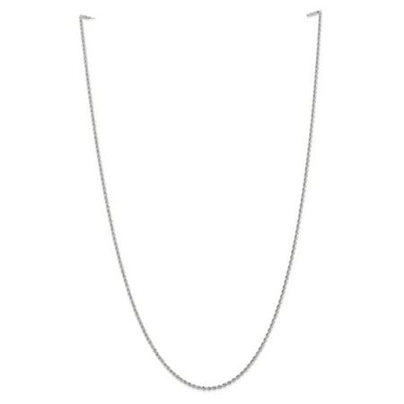 Primal Gold 14 Karat White Gold 2.0mm Regular Rope Chain
