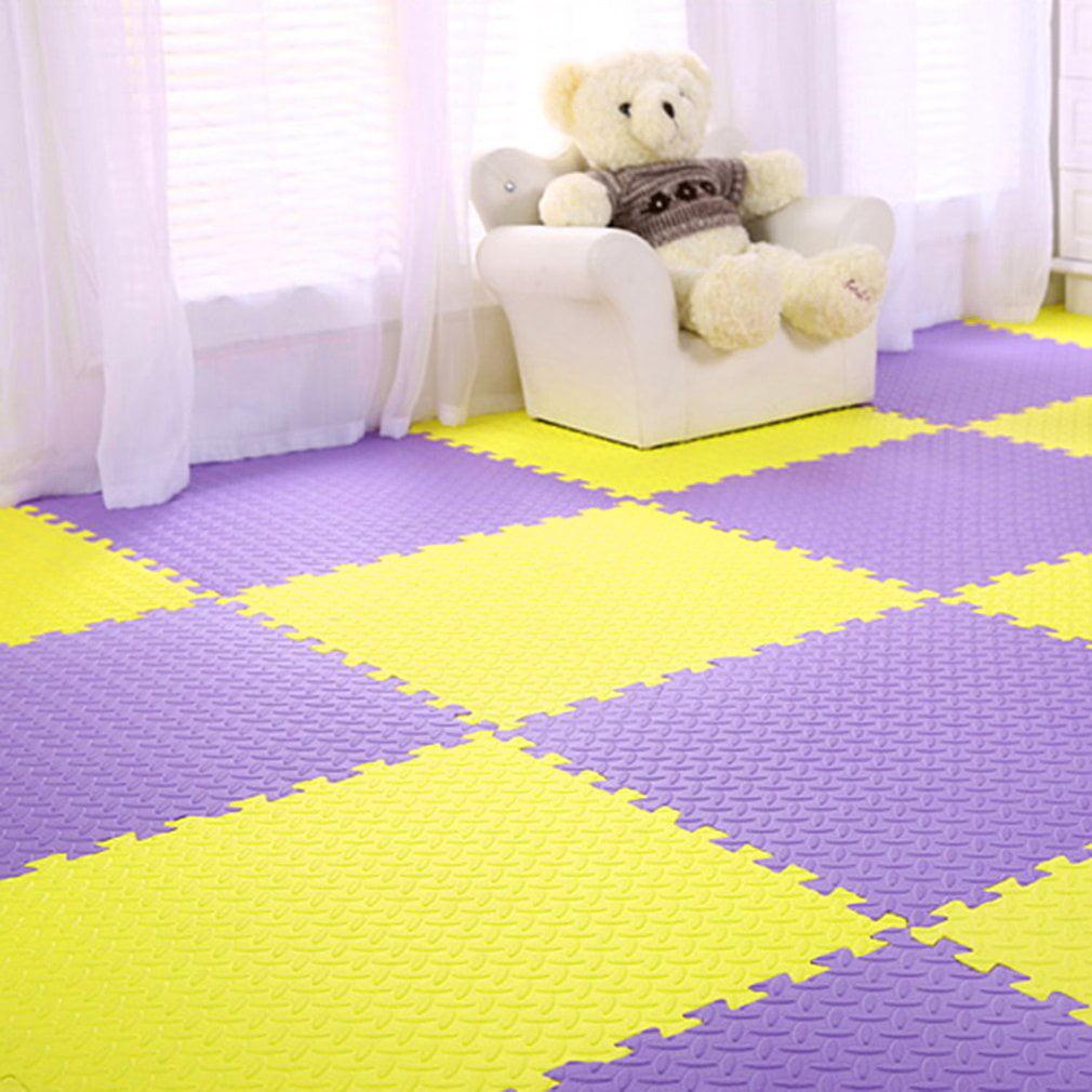 Color Combinatin Foam Mat Floor Tiles, Interlocking EVA Foam Matsfor Exercising, Yoga, Kids, Babies, Playroom(12pcs,48 Sq Ft)