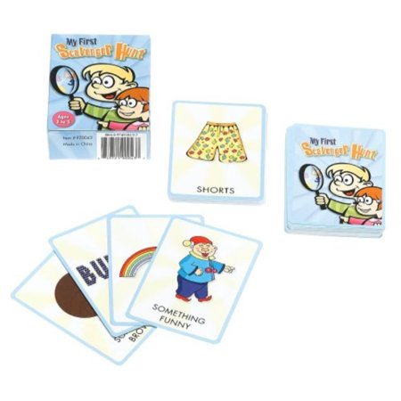my first scavenger hunt card game ()