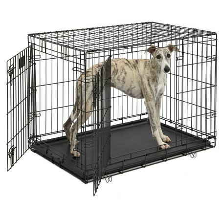 Life Stages Double Door Folding Metal Dog Crate Walmart Com
