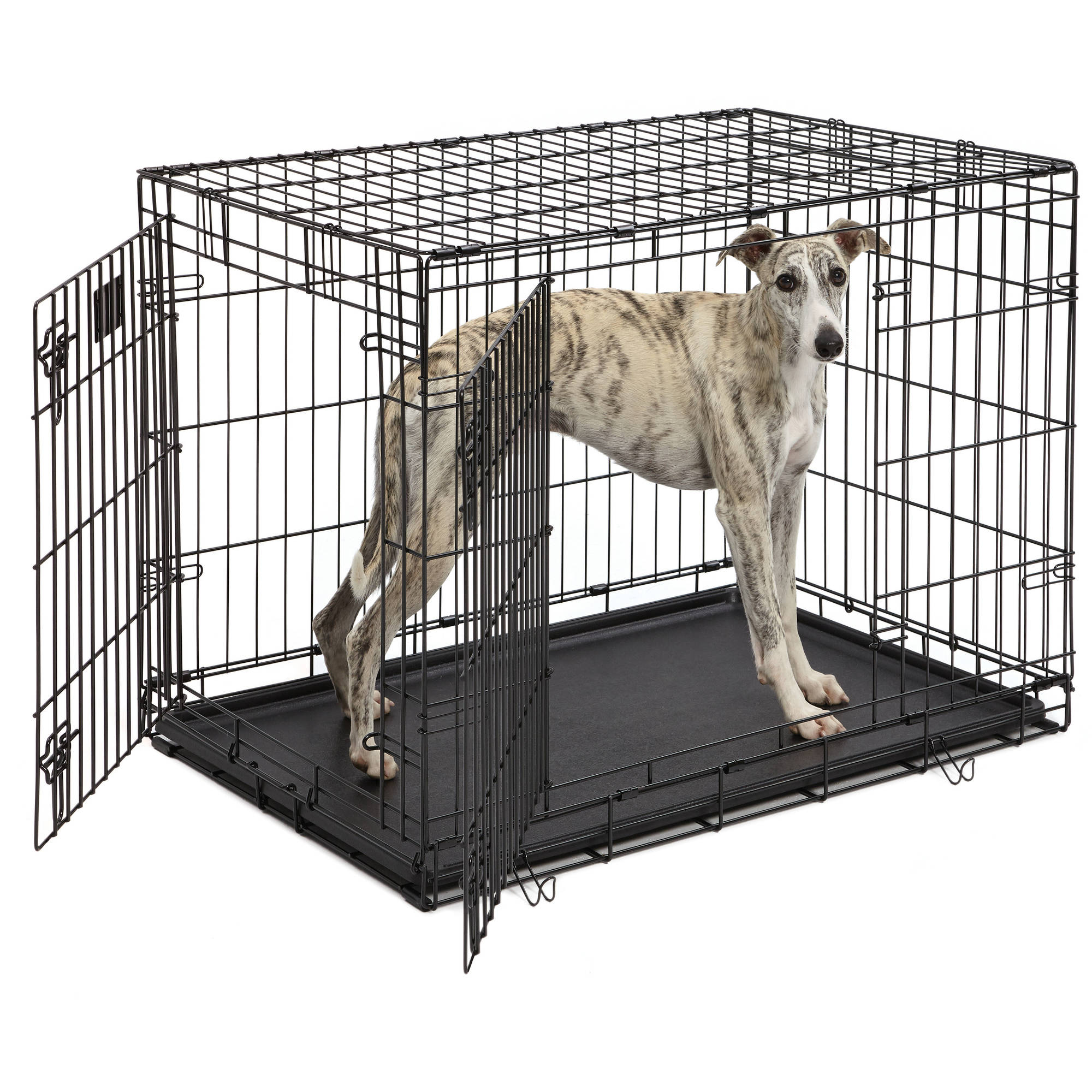 Life Stages Double Door Folding Metal Dog Crate