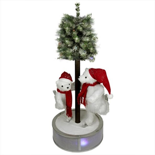 NorthLight 4 ft. Animated And Musical Lighted LED Ice Ska...