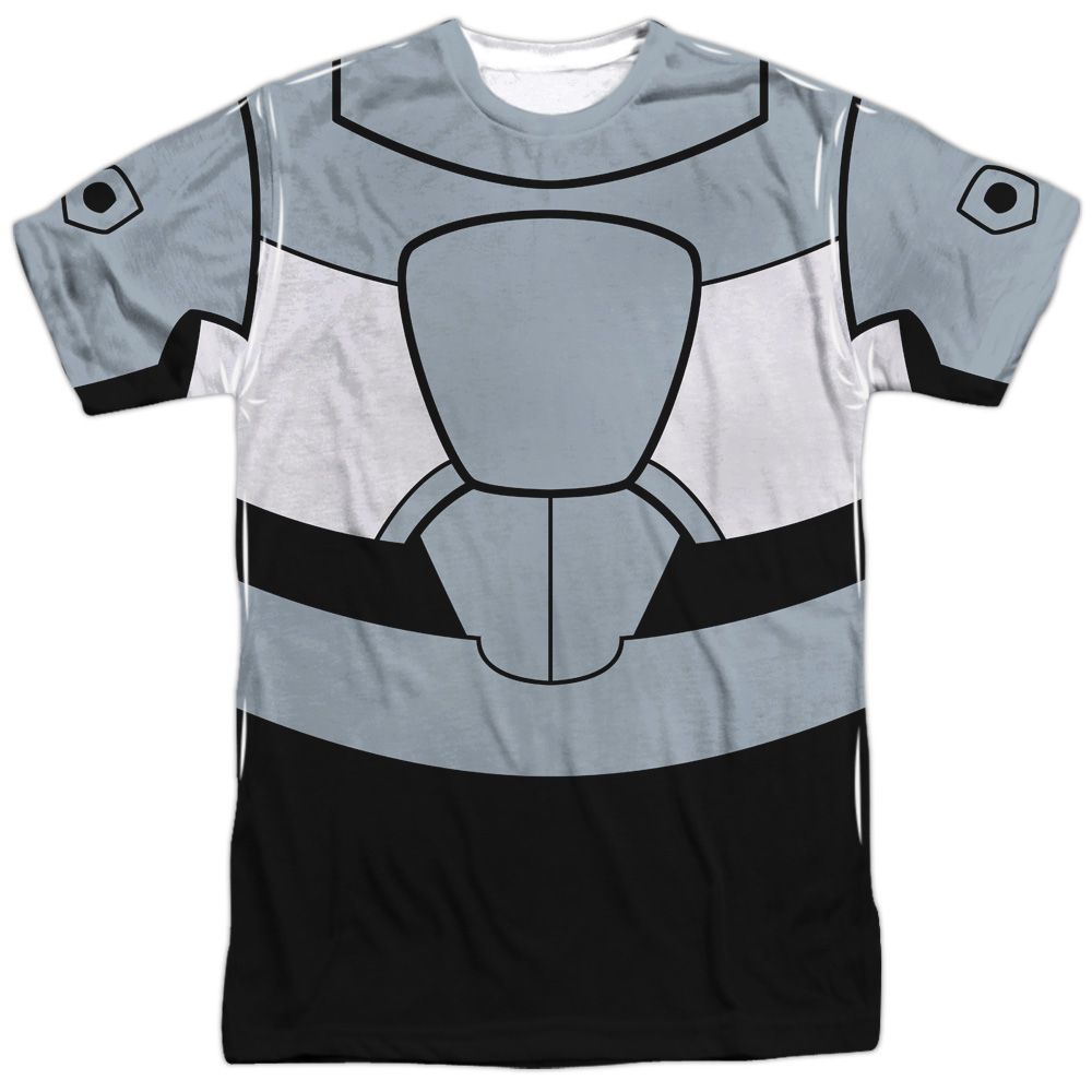 Teen Titans Go Cyborg Uniform (Front Back Print) Mens Sublimation Shirt