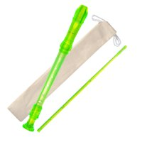 ADM 8 Hole Soprano Recorder German Style with Storage Cleaning Rod Case Bag Music Instrument for Kids Beginner, Yellow
