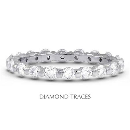 14K White Gold Bar Setting 3.01 Carat Total Natural Diamonds Classic Eternity Ring - image 1 de 1