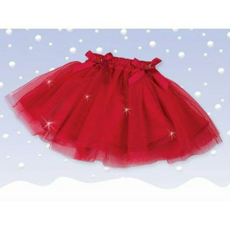 Bearington Sparkling Red Christmas Tutu (12-24 Months)