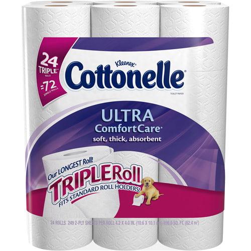 Cottonelle Ultra Comfort Care Toilet Paper Triple Rolls, 249 sheets, 24 rolls