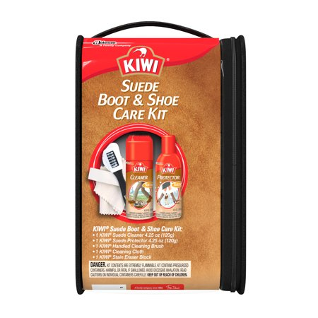 KIWI Suede Boot & Shoe Care Kit (Small Shoe Shine Kit)