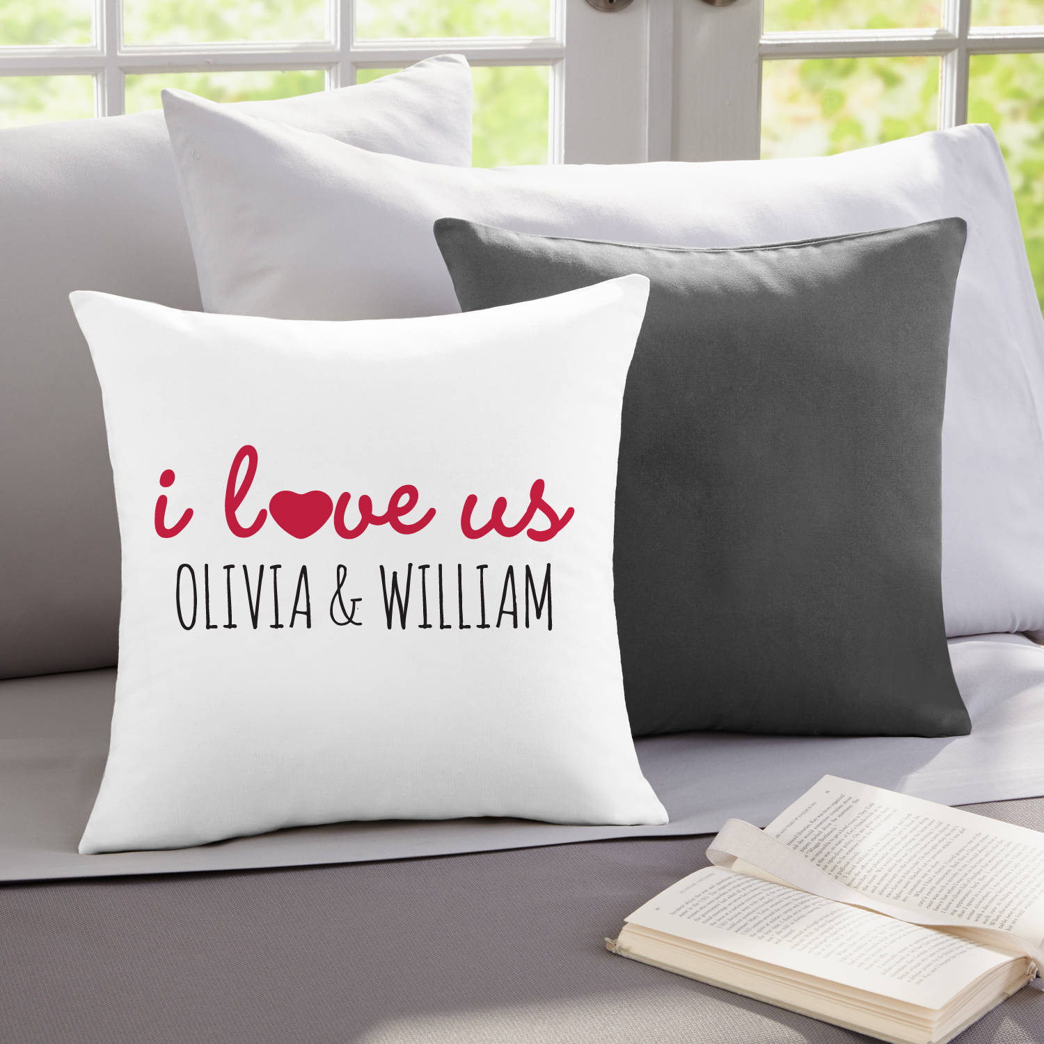 Personalized I Love Us Throw Pillow