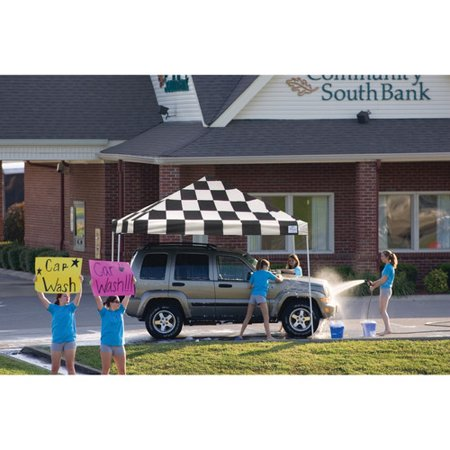 12' x 12' Pro Pop-up Canopy Straight Leg, Checker Flag Cover
