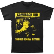 Comeback Kid Men's  Should Know Better T-shirt Black