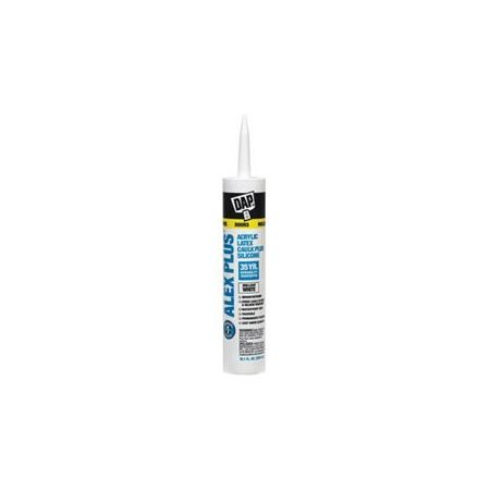 DAP Alex Plus 10.1 oz. White Acrylic Latex Caulk Plus Silicone