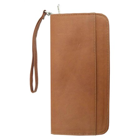 Zippered Passport Ticket Holder (Chocolate)