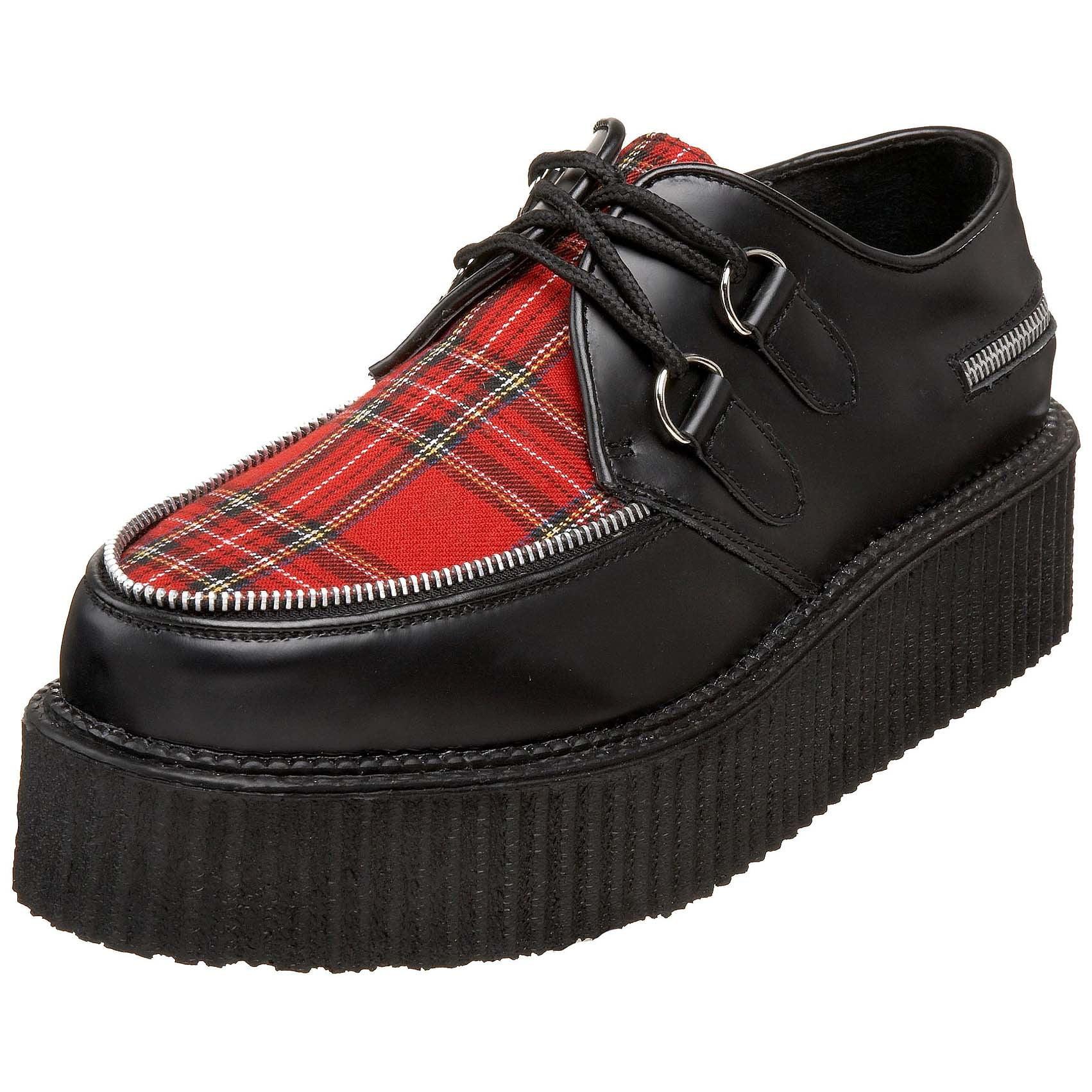 mens creeper shoes 2 inch platform retro black shoes