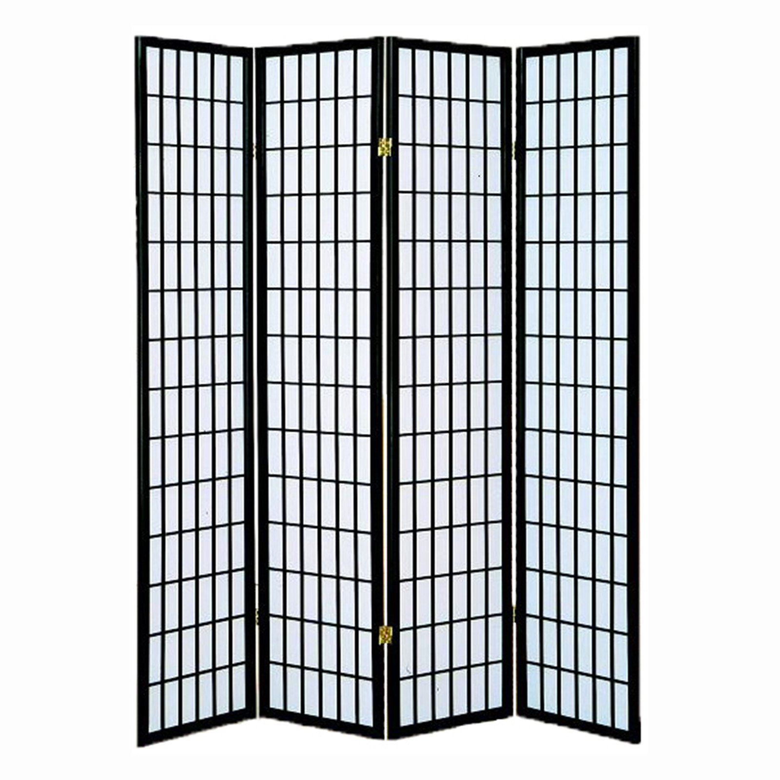 Best Choice Products 4 Panel Folding Room Divider Privacy Screen Home Decoration Accent Black