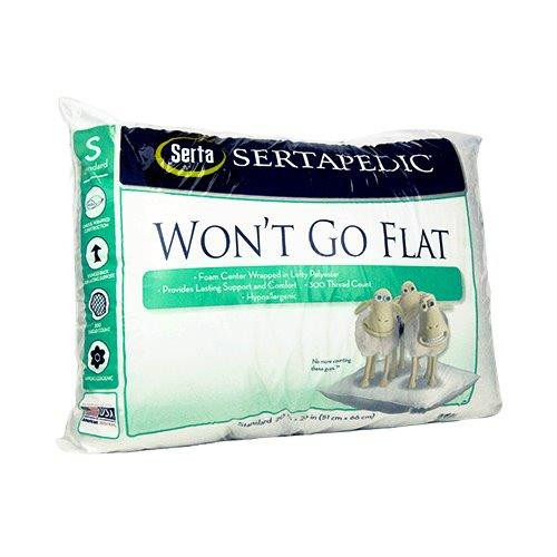 Sertapedic Won't Go Flat Standard/Queen Pillow