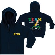 Personalized Caillou Team Caillou Youth Navy Zip-Up Hoodie