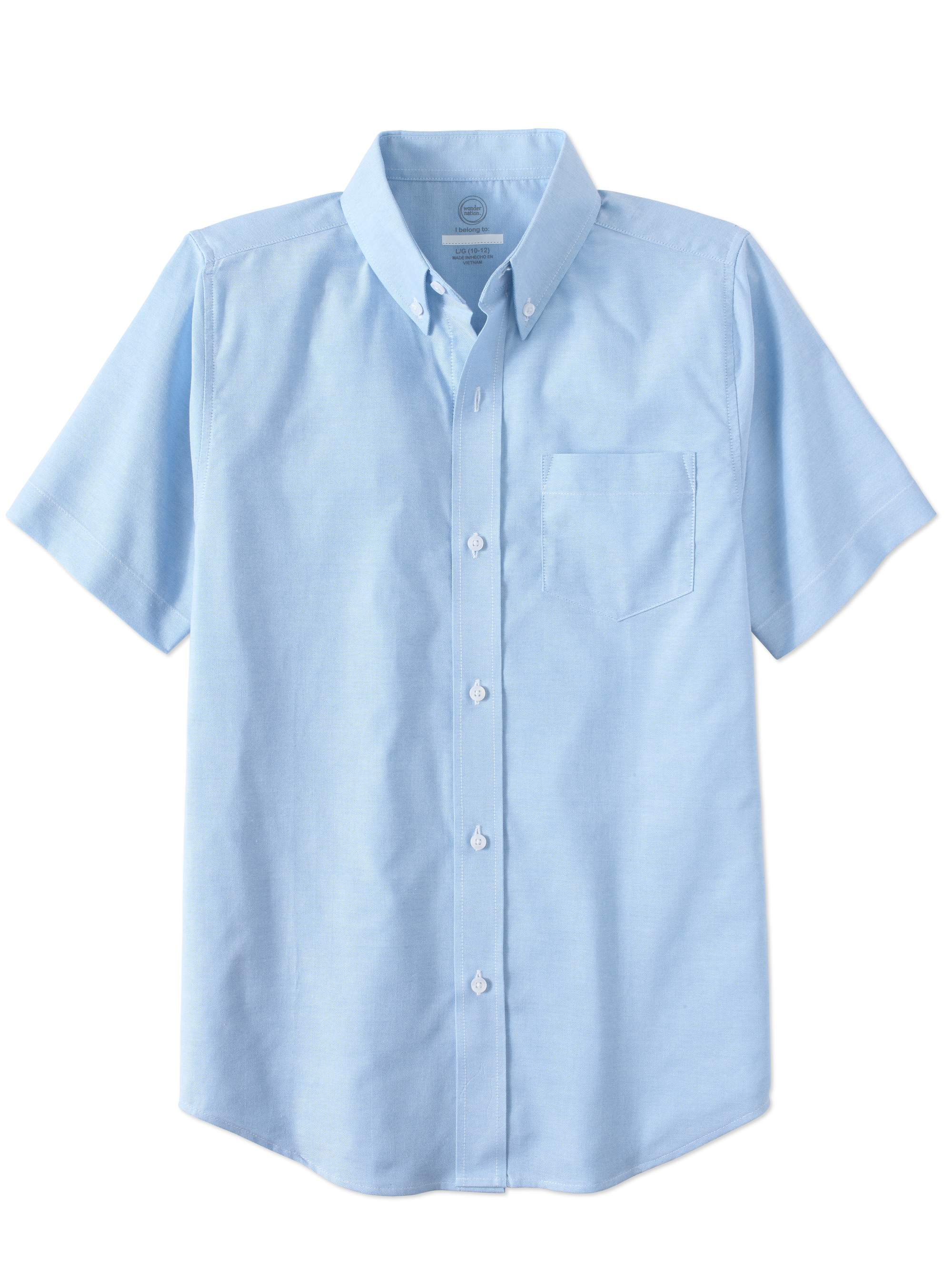 Boys School Uniform Short Sleeve Oxford Shirt