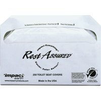 Impact Products Toilet Seat Covers, White, 5000 / Carton (Quantity)
