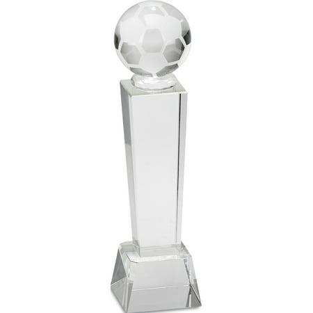 Large Optic Crystal Soccer Award (Optic Crystal Award)