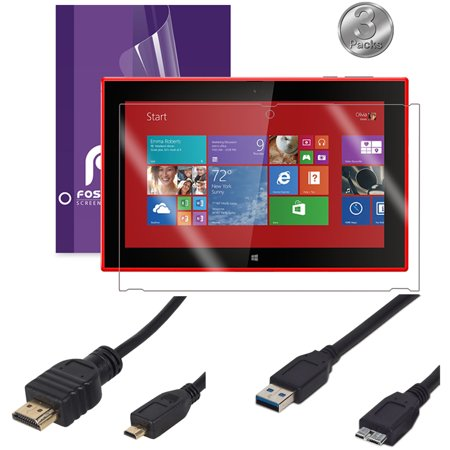 nokia lumia 2520 micro usb 3 0 cable micro hdmi tv cable 3x screen protector. Black Bedroom Furniture Sets. Home Design Ideas