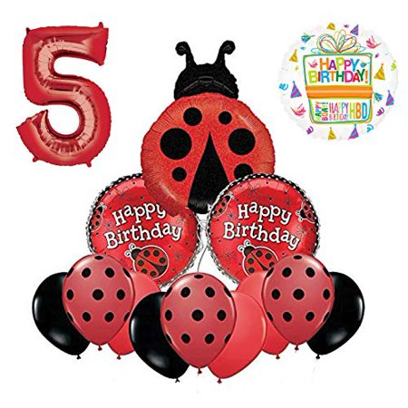 Mayflower Products Ladybug 5th Birthday Party Supplies Balloon Bouquet Decoration](Lady Bug Birthday)