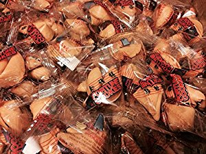 100 Individually Wrapped Traditional Fortune Cookies by