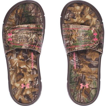 6d0f7659430c Under Armour - Under Armour Women s Ignite Camo VIII Slide Sport Sandal  Brown Camo 1287328 - Walmart.com