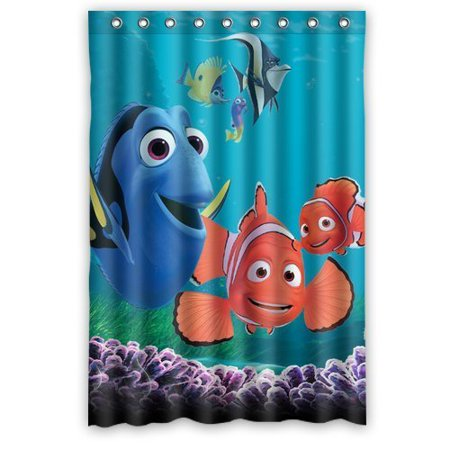 DEYOU Turtle And Fish Finding Nemo Shower Curtain Polyester Fabric Bathroom Size 48x72 Inches