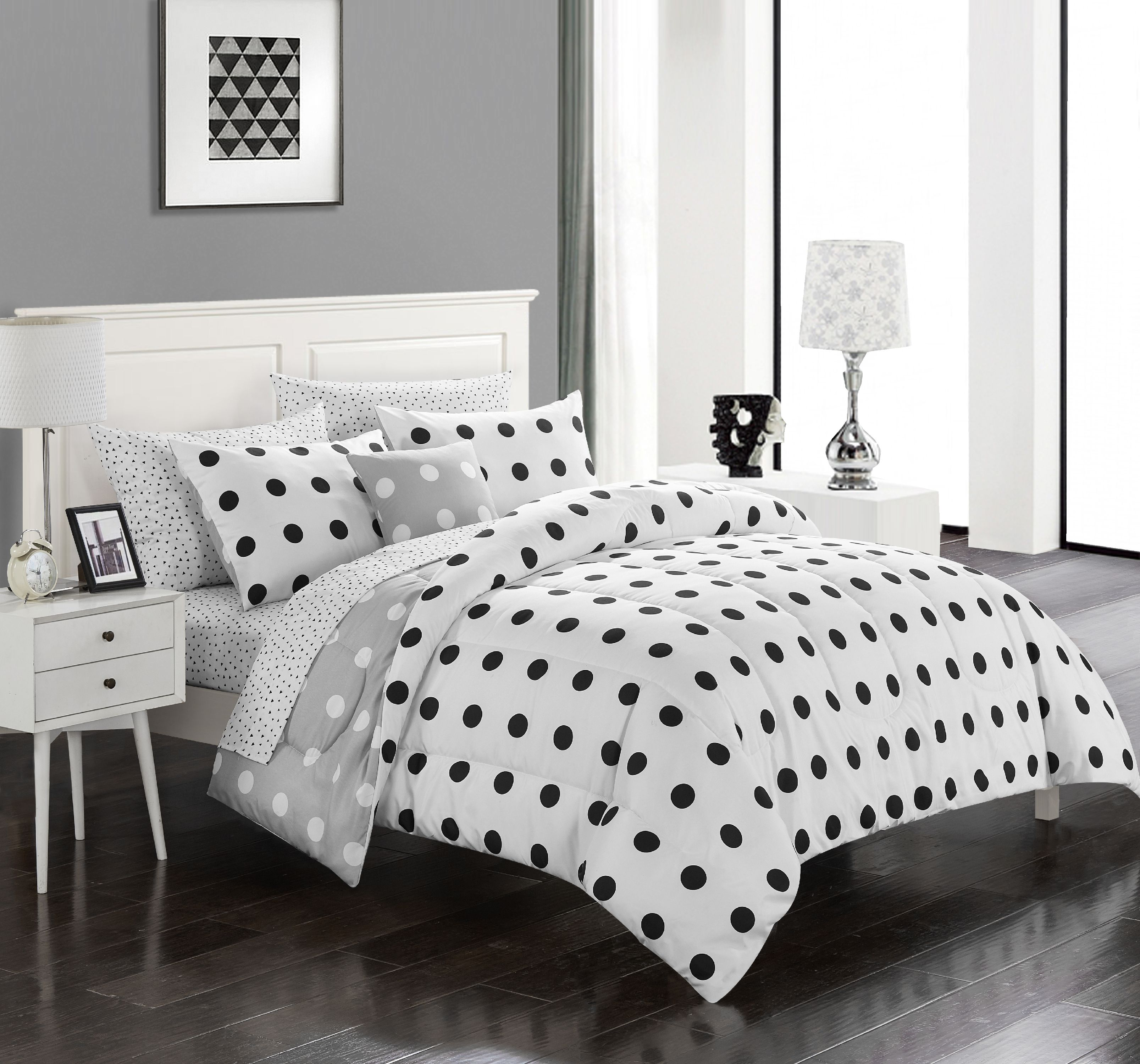 Mainstays Full Maggie Bed in a Bag Bedding Set, 6 Piece