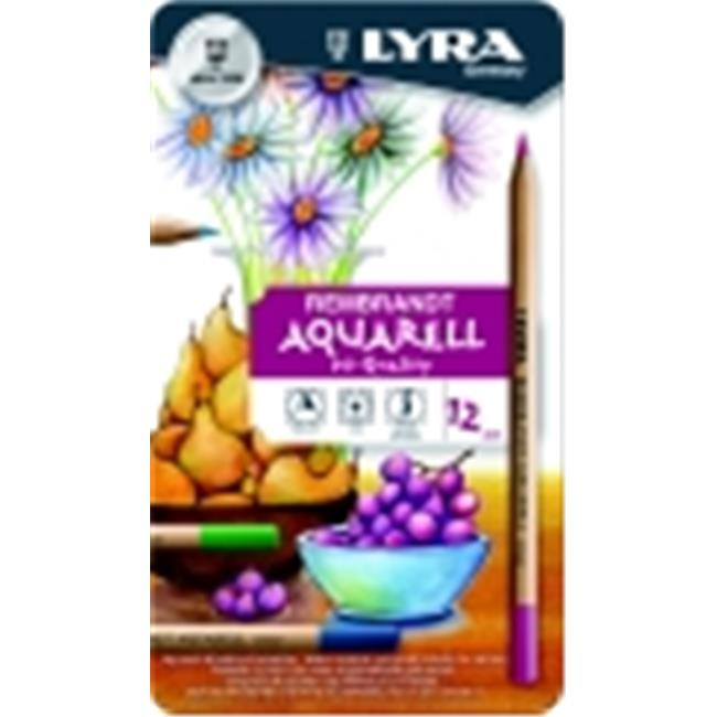 Lyra Rembrandt Aquarelle Non-Toxic Colored Pencil, Assorted Color, Pack 12