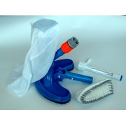 Swimming Pool Spa Jet Vacuum Cleaning Kit with Brush & Thermometer