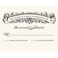 Romantic Scroll Standard RSVP