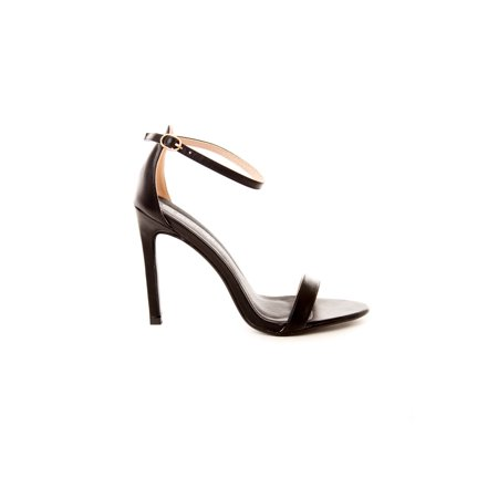 Soho Shoes Women's Open Toe Ankle Strap Platform Casual Stiletto Pumps