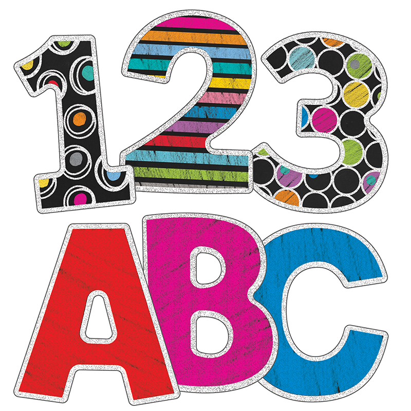 (6 Pk) Colorful Chalkboard 3In Ez Letters