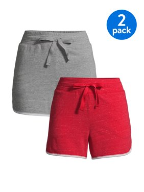 Athletic Works Women's Athleisure Gym Shorts, 2-Pack