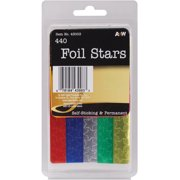 Foil Star Stickers-Assorted Colors 440/Pkg