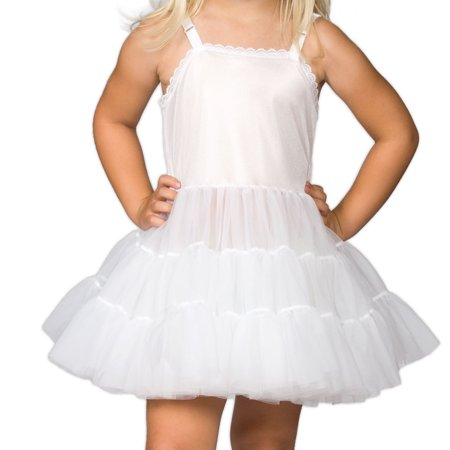 I.C. Collections Girls White Bouffant Slip Petticoat Extra Full, 2T - 14