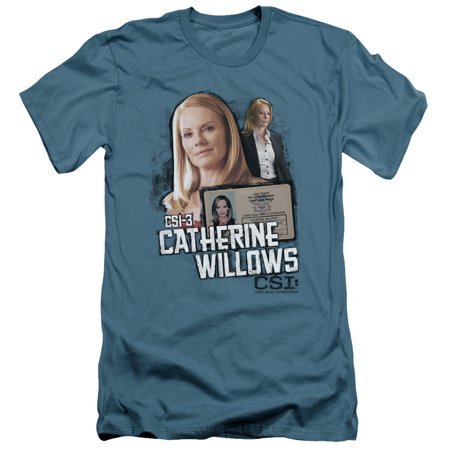 Csi Tv Show Cbs Catherine Willows Adult Slim T Shirt Tee