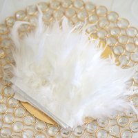 BalsaCircle 39-Inch long Natural Turkey Feathers Trim with Satin Ribbon - Party Wedding Reception Wholesale Decorations Supplies