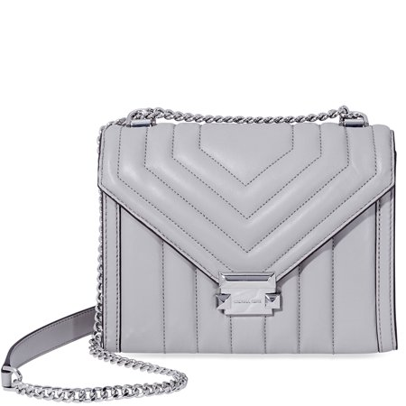 ee1125710a905f Michael Kors Whitney Large Quilted Leather Shoulder Bag - Pearl Grey -  Walmart.com