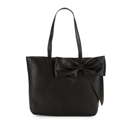 Fara Leather Bow Tote