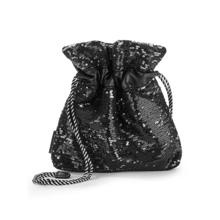 Kendall + Kylie for Walmart Small Pouch Crossbody With Black & Silver