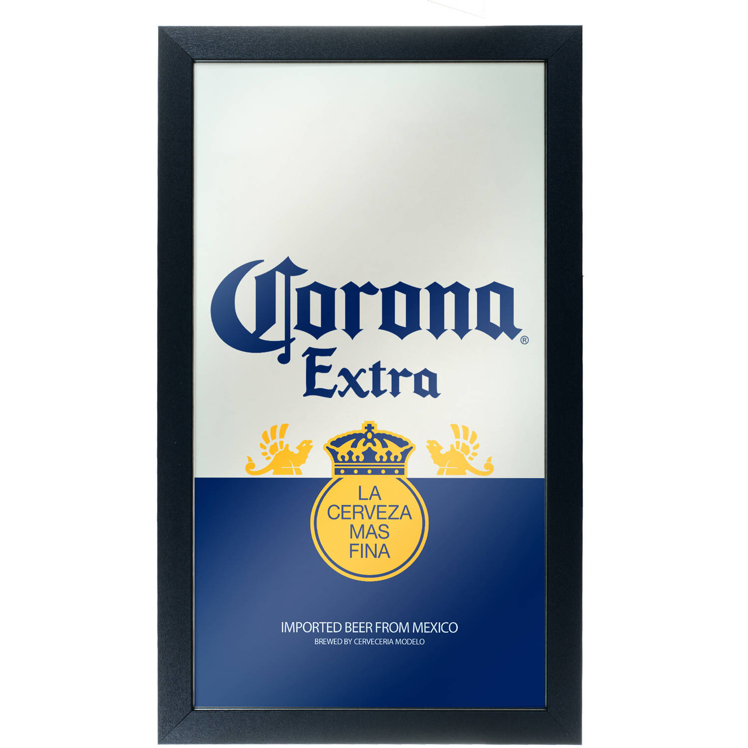 "Corona Framed Mirror Wall Plaque, 15"" x 26"", Can"