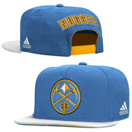 (Men's adidas Light Blue Denver Nuggets 2015 Official NBA Draft Snapback Adjustable Hat)