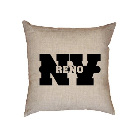 Reno, Nevada NV Classic City State Sign Decorative Linen Throw Cushion Pillow Case with - Party City Reno Nevada